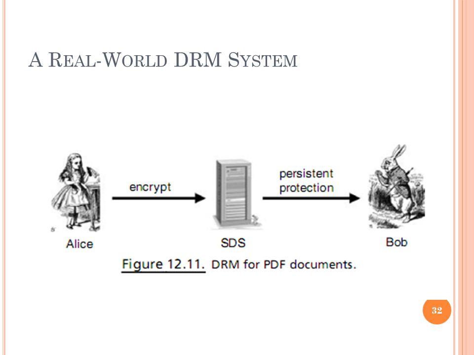 A R EAL -W ORLD DRM S YSTEM 32