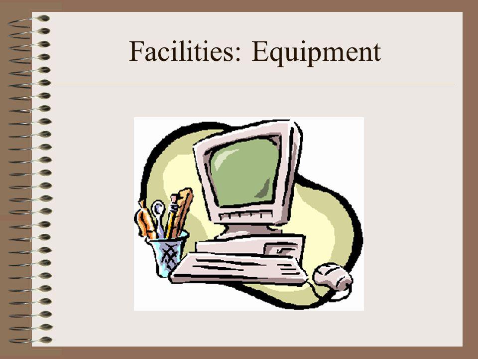 Facilities: Equipment