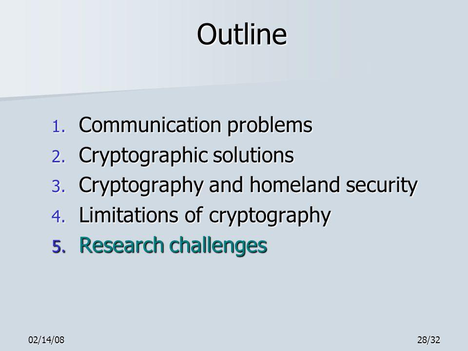 02/14/0828/32 Outline 1. Communication problems 2.