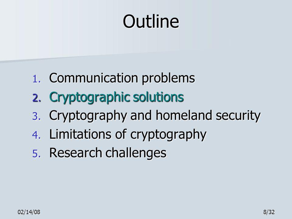 02/14/088/32 Outline 1. Communication problems 2.