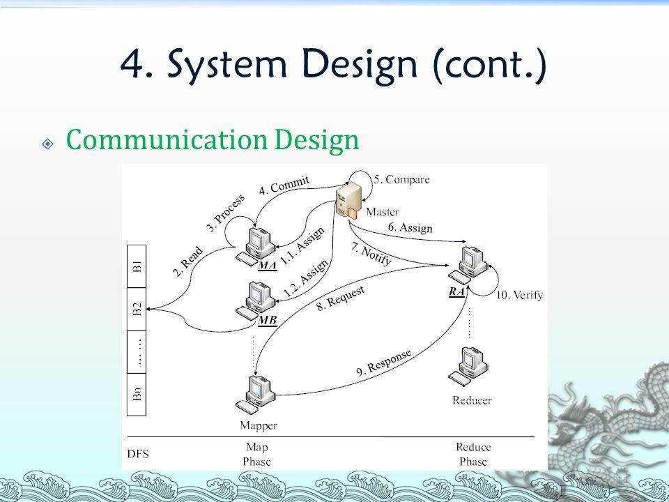 4. System Design (cont.)  Communication Design 11