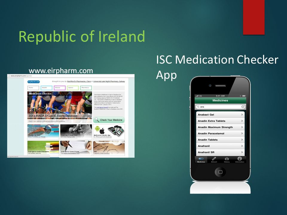 Republic of Ireland www.eirpharm.com ISC Medication Checker App
