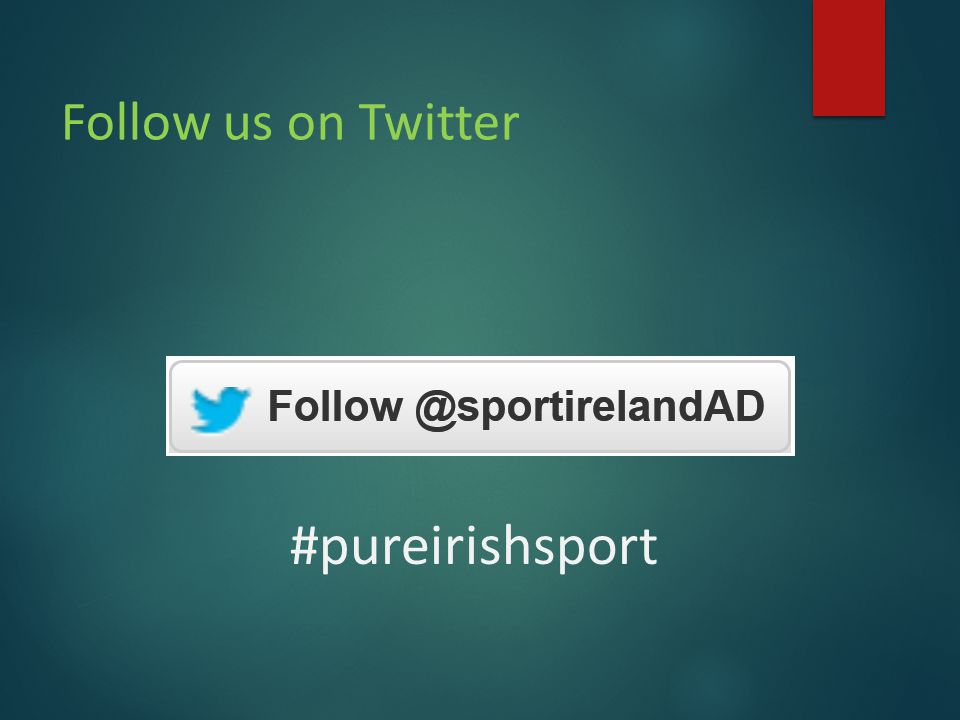 Follow us on Twitter #pureirishsport