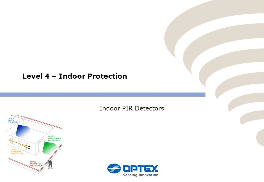 Level 4 – Indoor Protection Indoor PIR Detectors