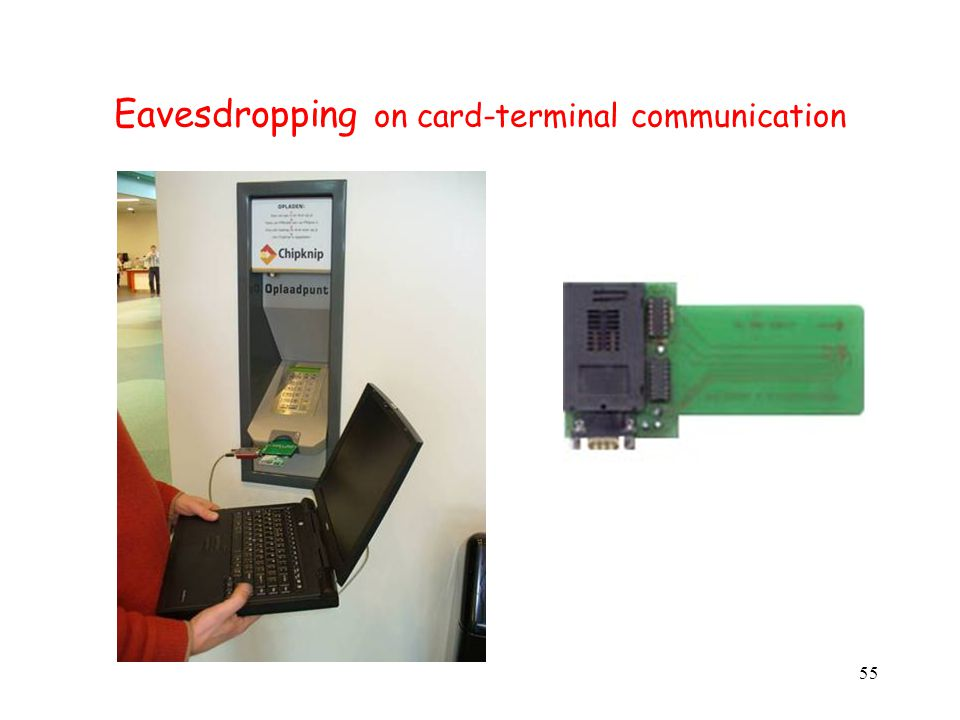 55 Eavesdropping on card-terminal communication
