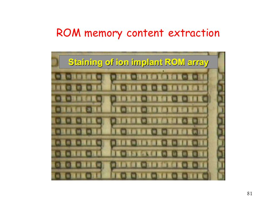 81 ROM memory content extraction