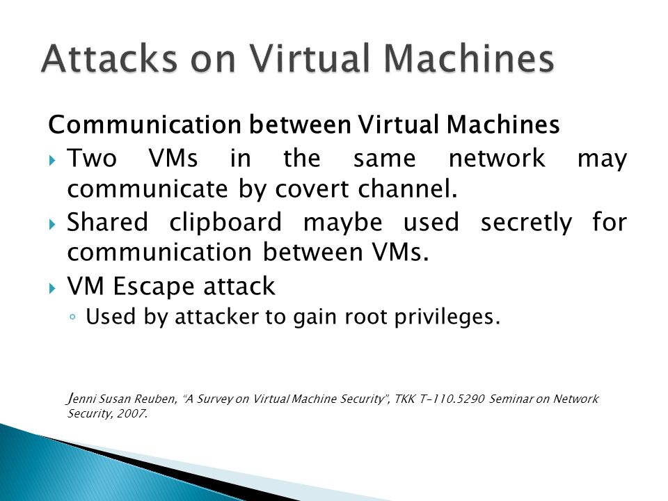 [6] Seongwook Jin, Jeongseob Ahn, Sanghoon Cha, and Jaehyuk Huh, Architectural Support for Secure Virtualization under a Vulnerable Hypervisor , Proceedings of the 44th Annual IEEE/ACM International Symposium on Microarchitecture, USA, 2011.