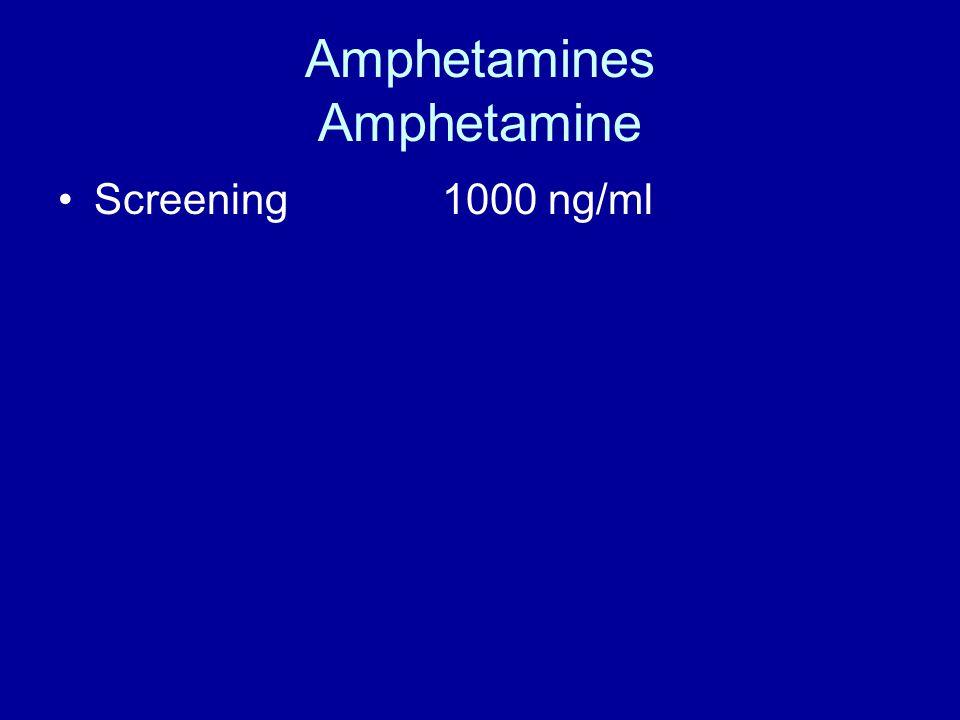 Amphetamines Amphetamine Screening 1000 ng/ml