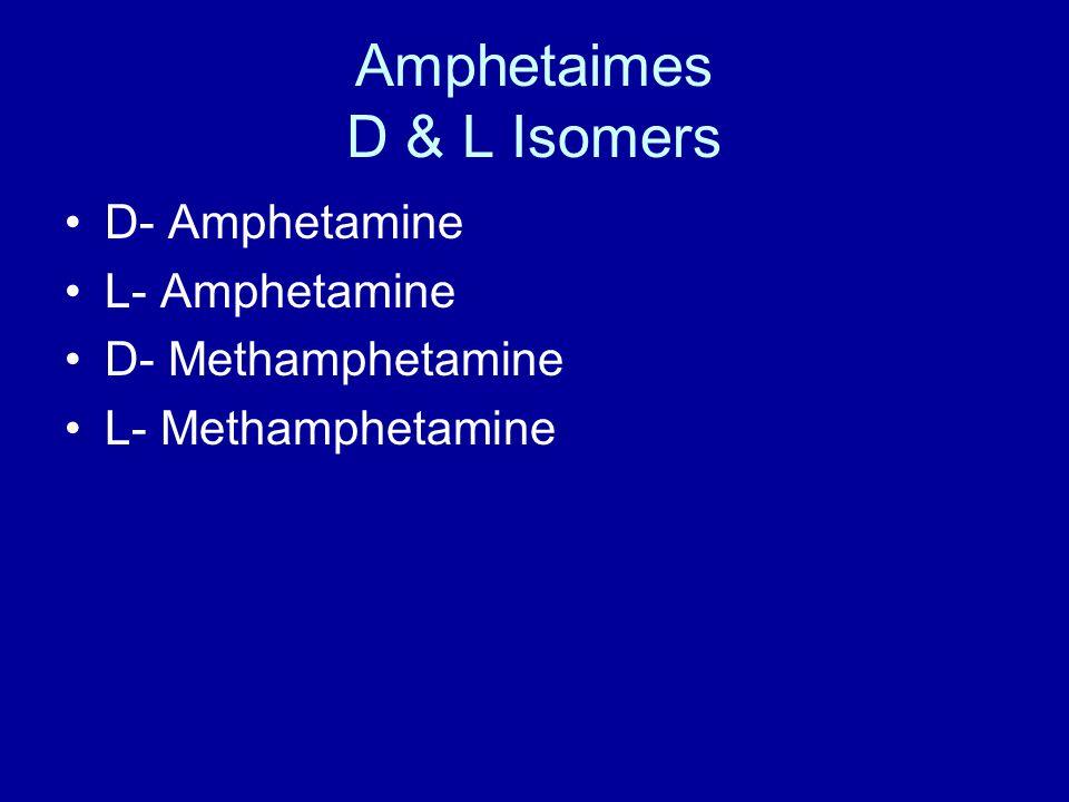 Amphetaimes D & L Isomers D- Amphetamine L- Amphetamine D- Methamphetamine L- Methamphetamine
