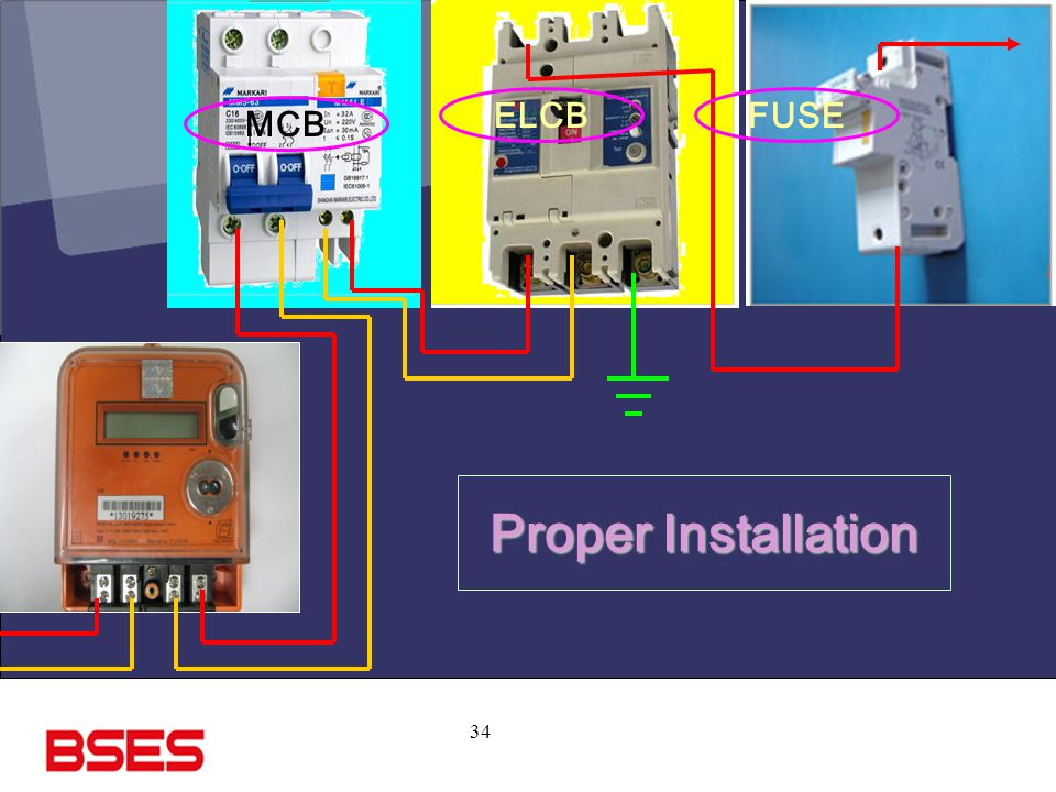 34 MCB ELCBFUSE Proper Installation