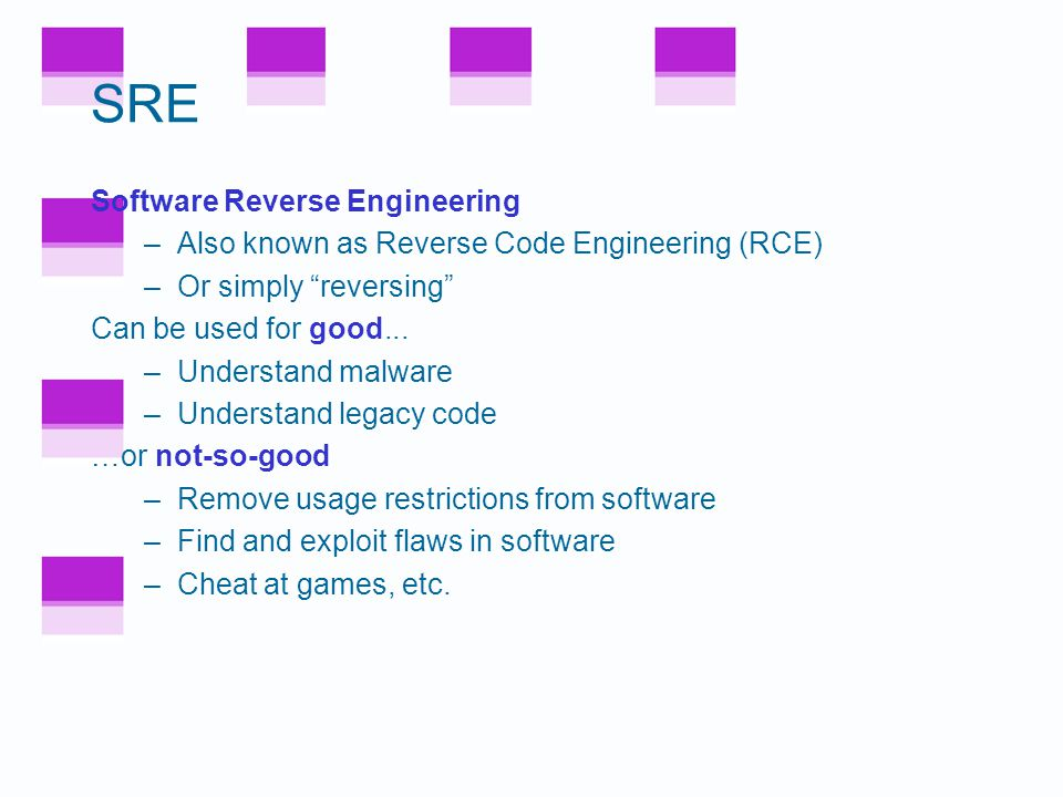 Other Security Features Code tamper checking (hashing) –To validate all code executing on system Anti-screen capture –To prevent obvious attack on digital documents Watermarking –In theory, can trace stolen content –In practice, of limited value Metamorphism (or individualization) –For BOBE-resistance