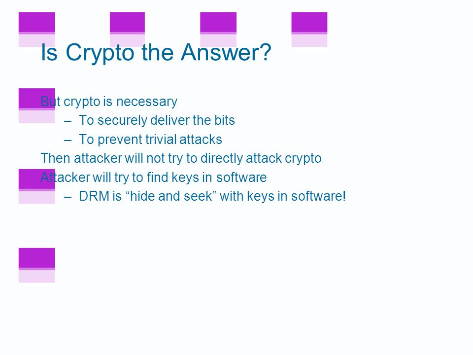 Is Crypto the Answer.