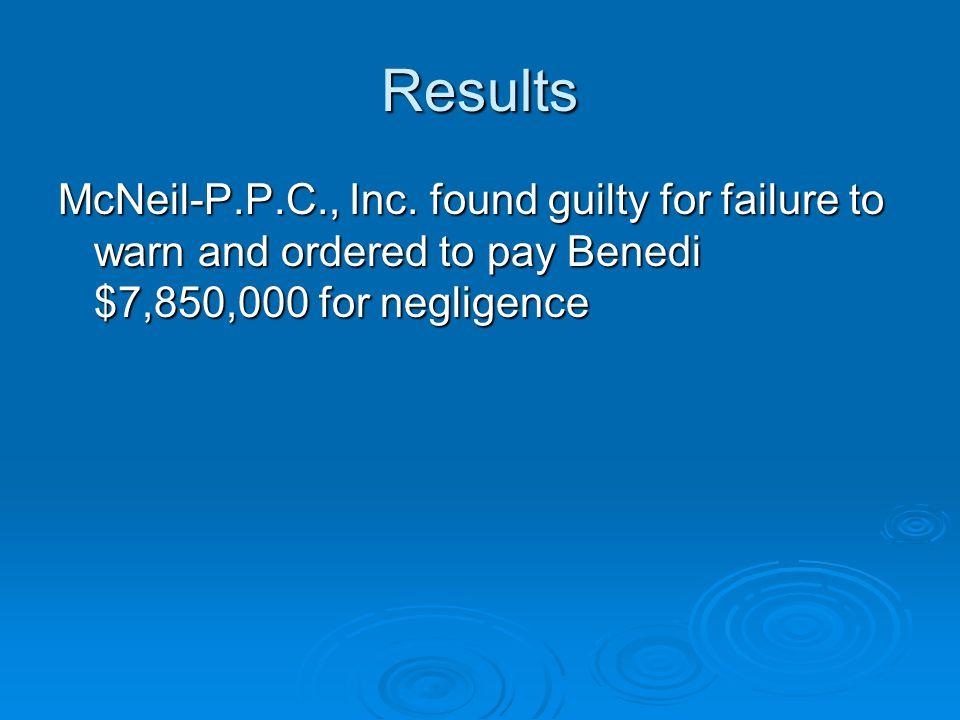 Results McNeil-P.P.C., Inc.