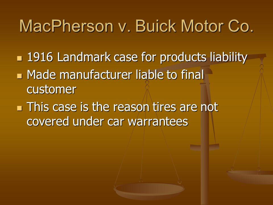 MacPherson v. Buick Motor Co.