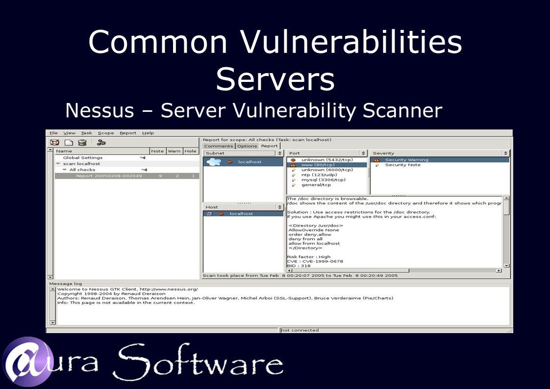 Common Vulnerabilities Servers Nessus – Server Vulnerability Scanner