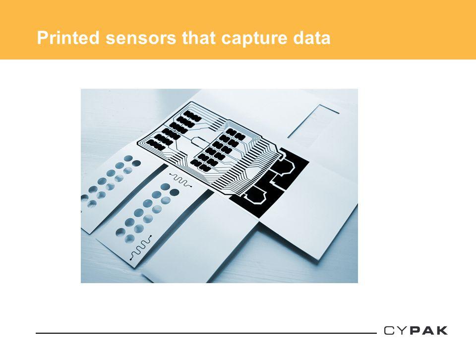 Printed sensors that capture data