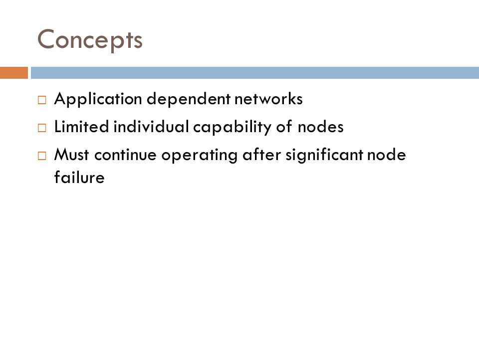 Black Holes  Nodes advertise zero cost routes to every other node  Network traffic is routed towards these nodes  This disrupts message delivery and causes intense resource contention  These are easily detected but more disruptive