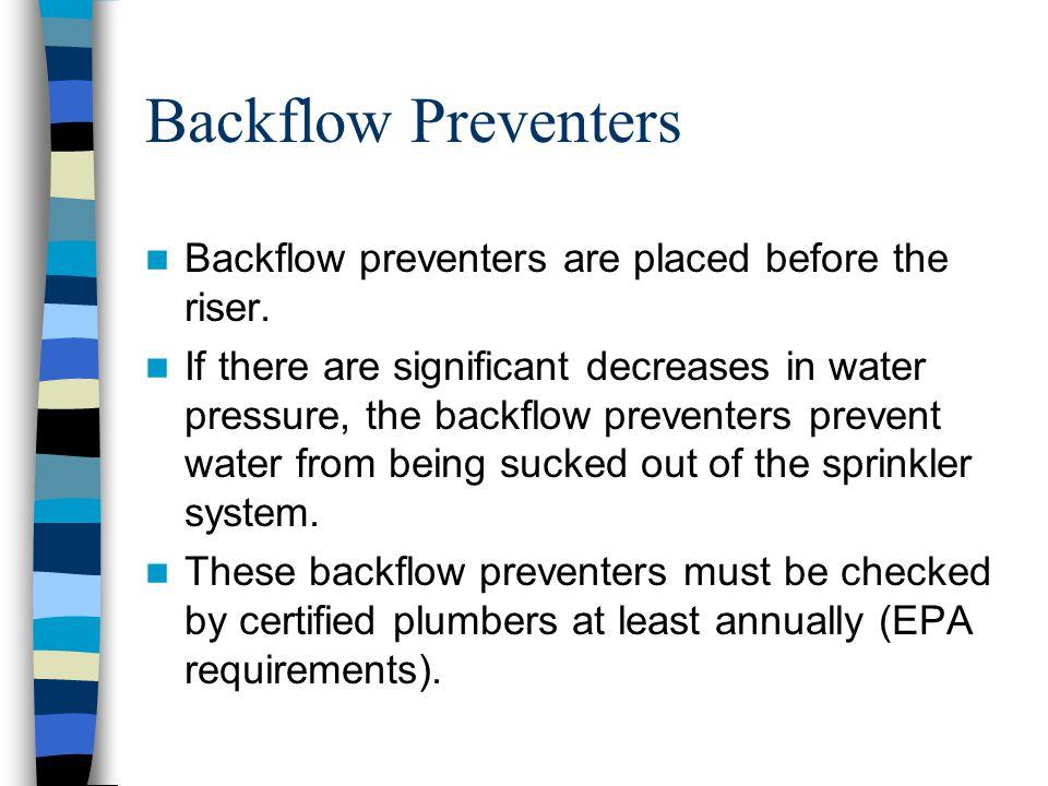 Back Flow Preventer