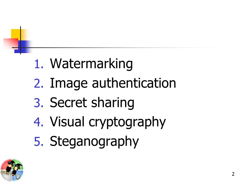 13 Steganography (Cont.) Cover image Hiding system Secret message Stego image 1 0 1 0 1 0 0 1 0 1 1 1 1 0 0 Image
