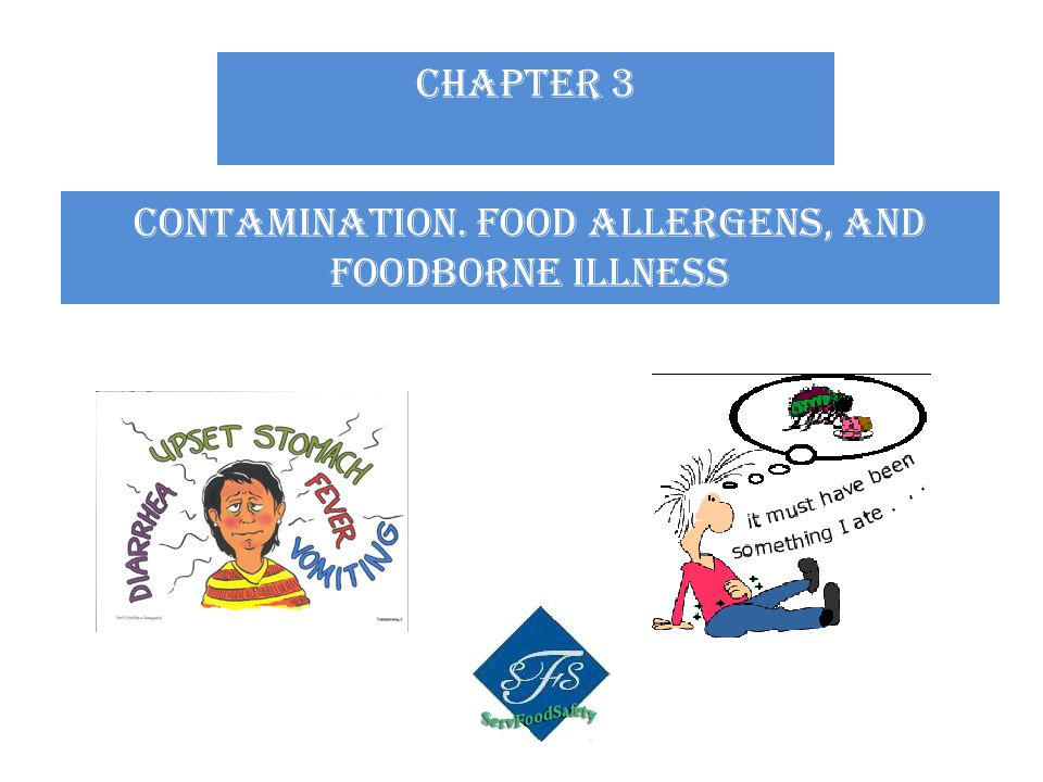 CHAPTER 3 Contamination. Food allergens, and foodborne illness