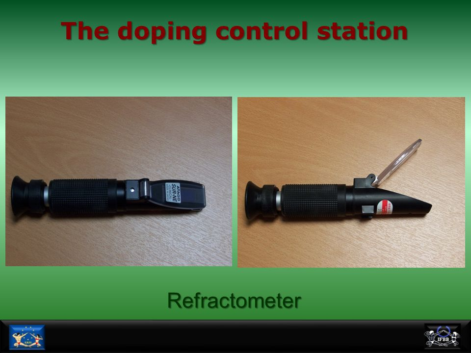 The doping control station Refractometer