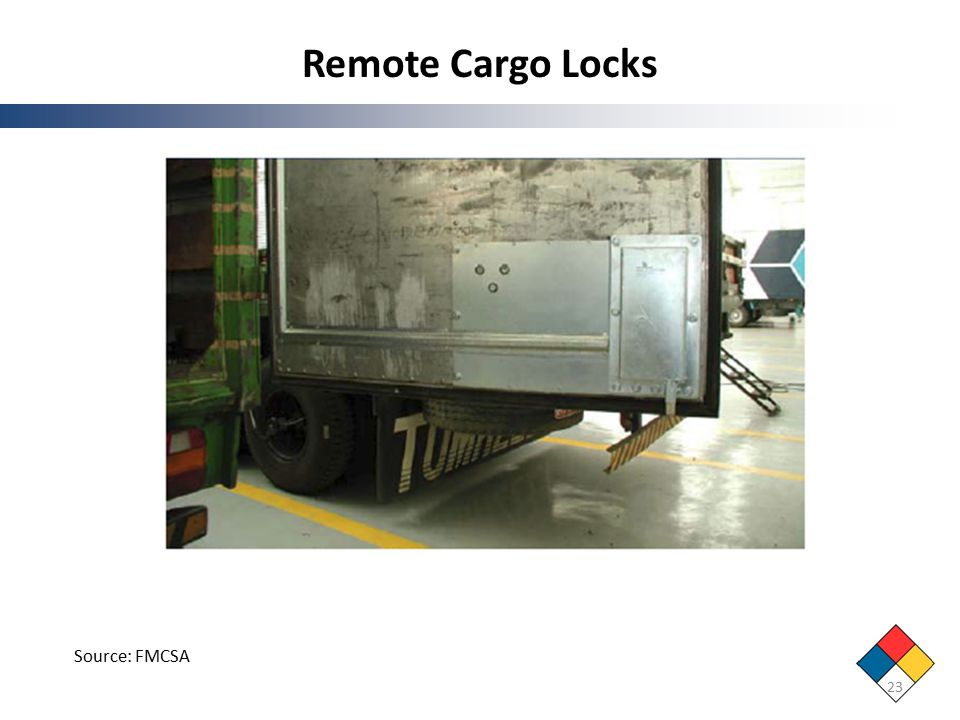 Remote Cargo Locks 23 Source: FMCSA
