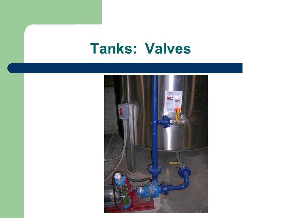 Tanks: Valves