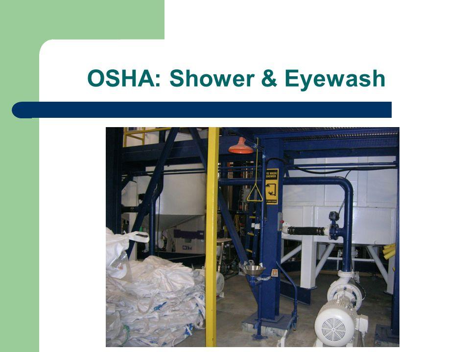 OSHA: Shower & Eyewash