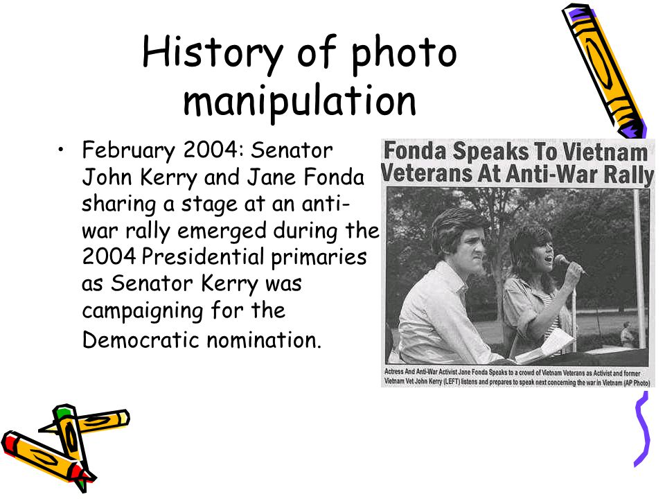 February 2004: Senator John Kerry and Jane Fonda sharing a stage at an anti- war rally emerged during the 2004 Presidential primaries as Senator Kerry was campaigning for the Democratic nomination.
