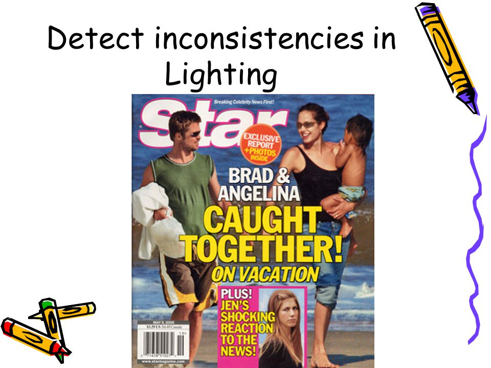 Detect inconsistencies in Lighting