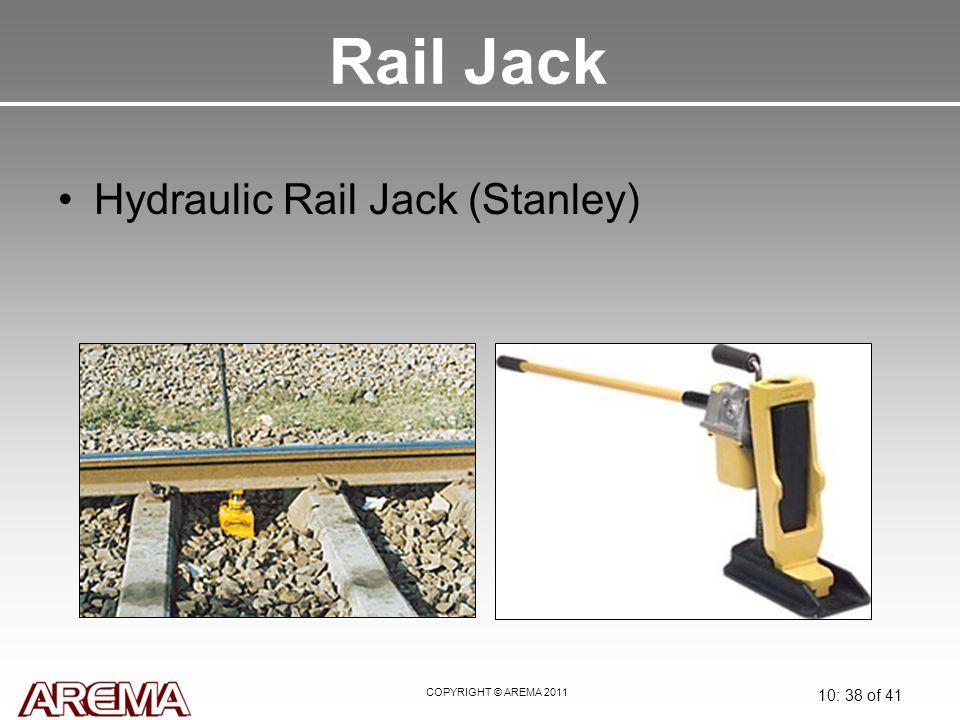 COPYRIGHT © AREMA 2011 10: 38 of 41 Rail Jack Hydraulic Rail Jack (Stanley)