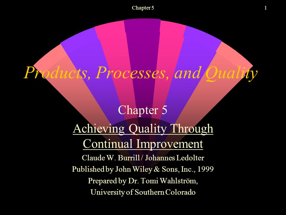 Chapter 51 Products, Processes, and Quality Chapter 5 Achieving Quality Through Continual Improvement Claude W.