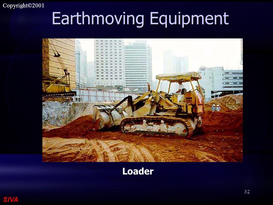 SIVA Copyright©2001 32 Earthmoving Equipment Loader