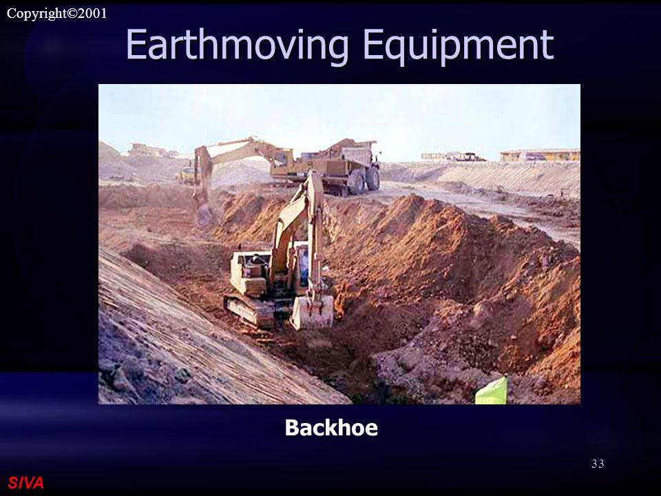 SIVA Copyright©2001 33 Earthmoving Equipment Backhoe