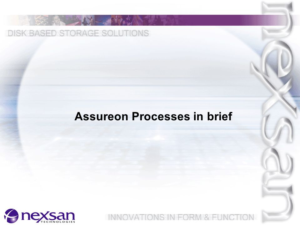 Assureon Processes in brief