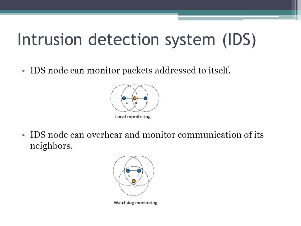 IDS techniques Many techniques have been proposed to detect different attacks.