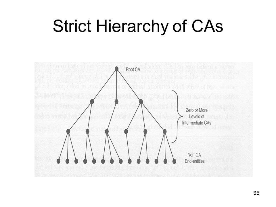 35 Strict Hierarchy of CAs