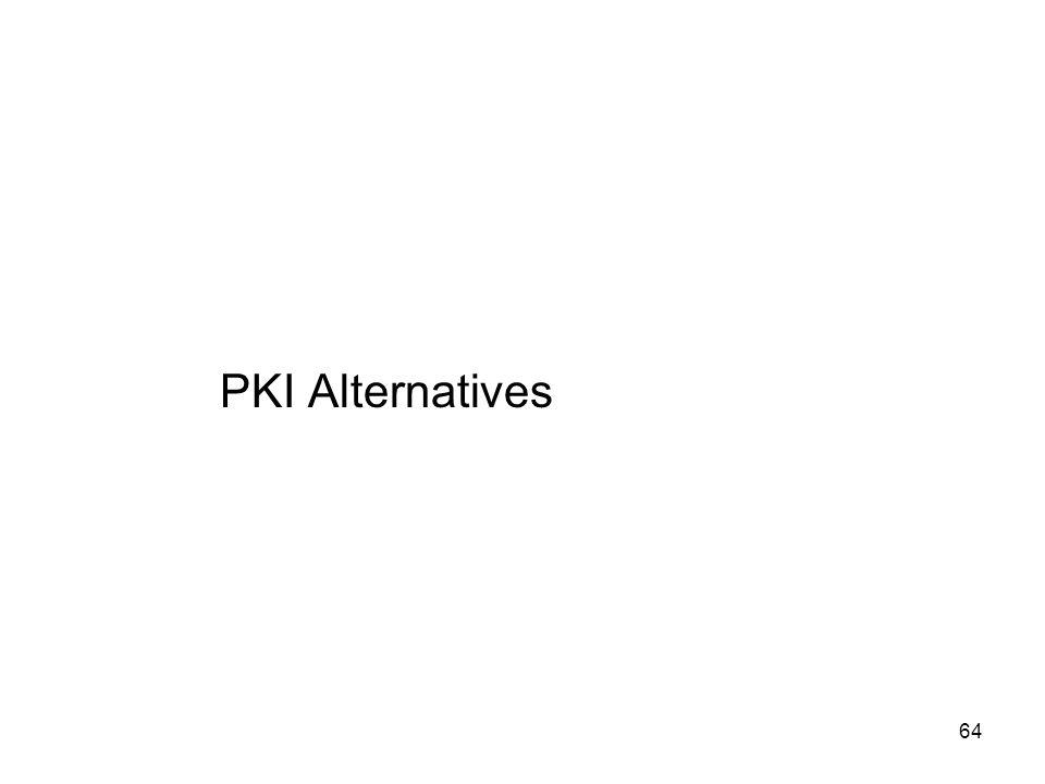 64 PKI Alternatives