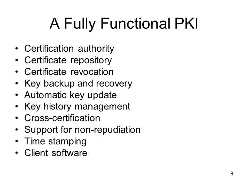 59 Critical Factors in Running an Enterprise PKI PKI functionality.