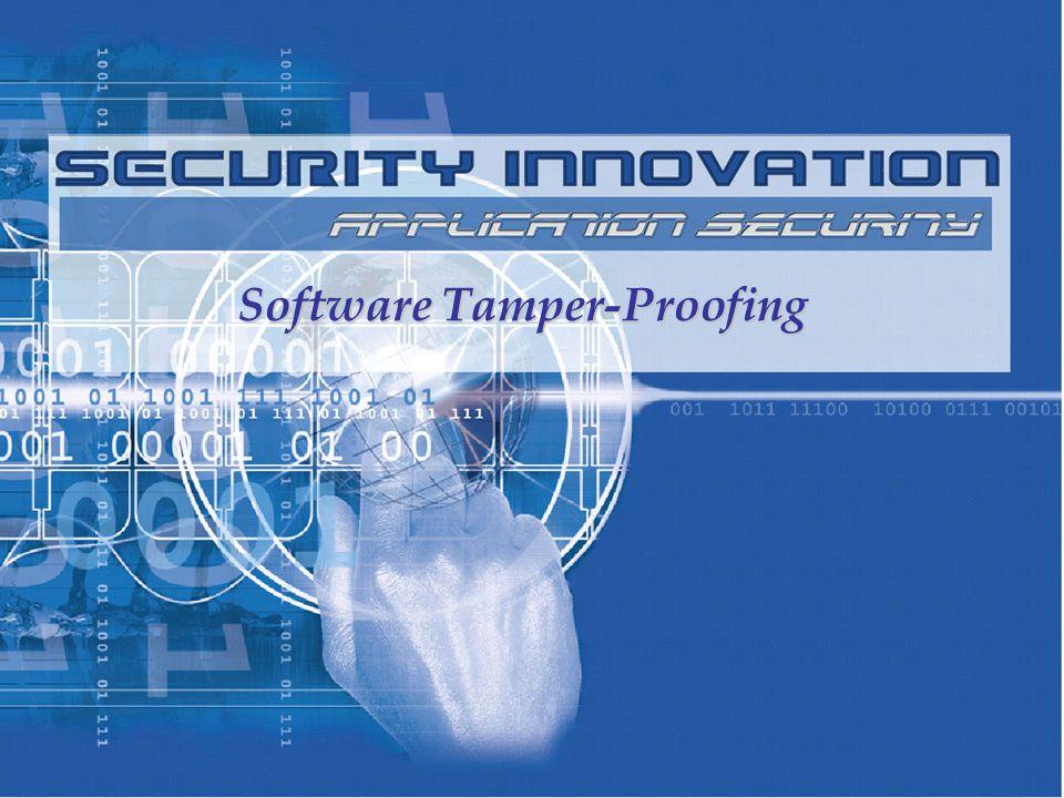 Software Tamper-Proofing