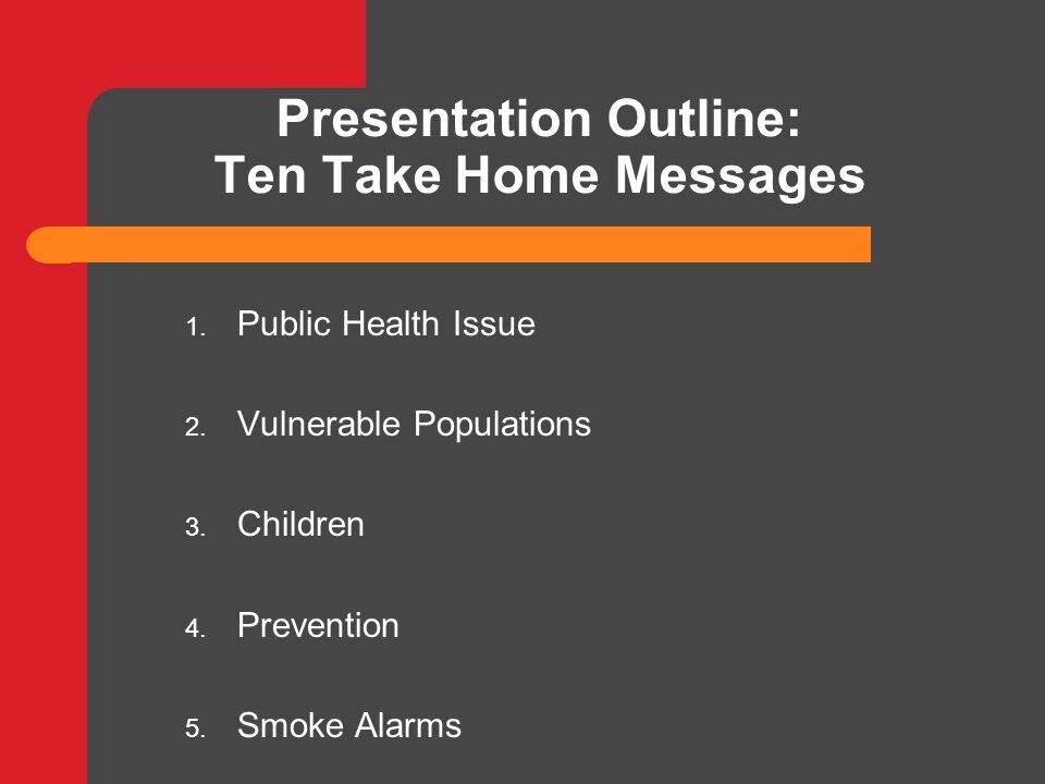 Presentation Outline: Ten Take Home Messages 6.Escape Plan 7.