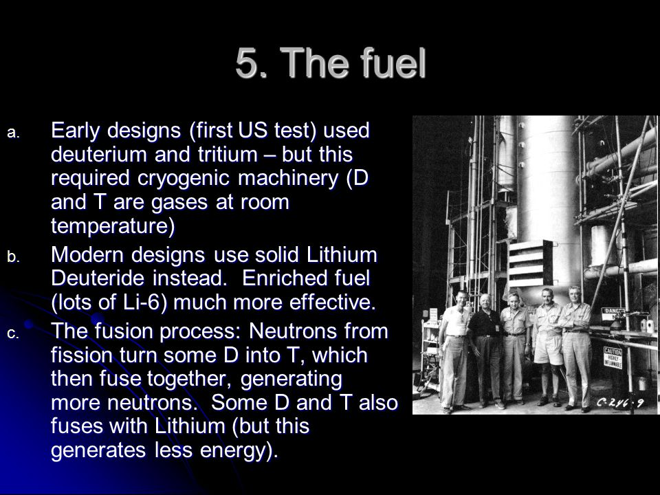 5. The fuel a.