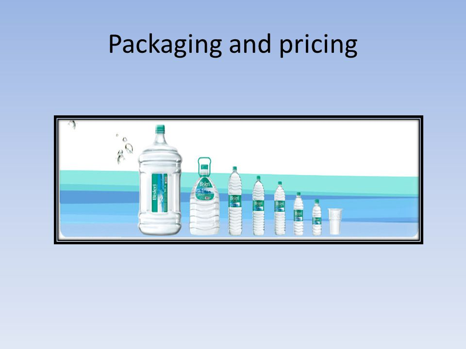 Use of packaging to differentiate their products Introduction of tamper proof seals In 2000 Bisleri s 5 and 20 litres packs accounted for 20% of its sales In 2000, Bisleri launched the 1.2 litre pack.