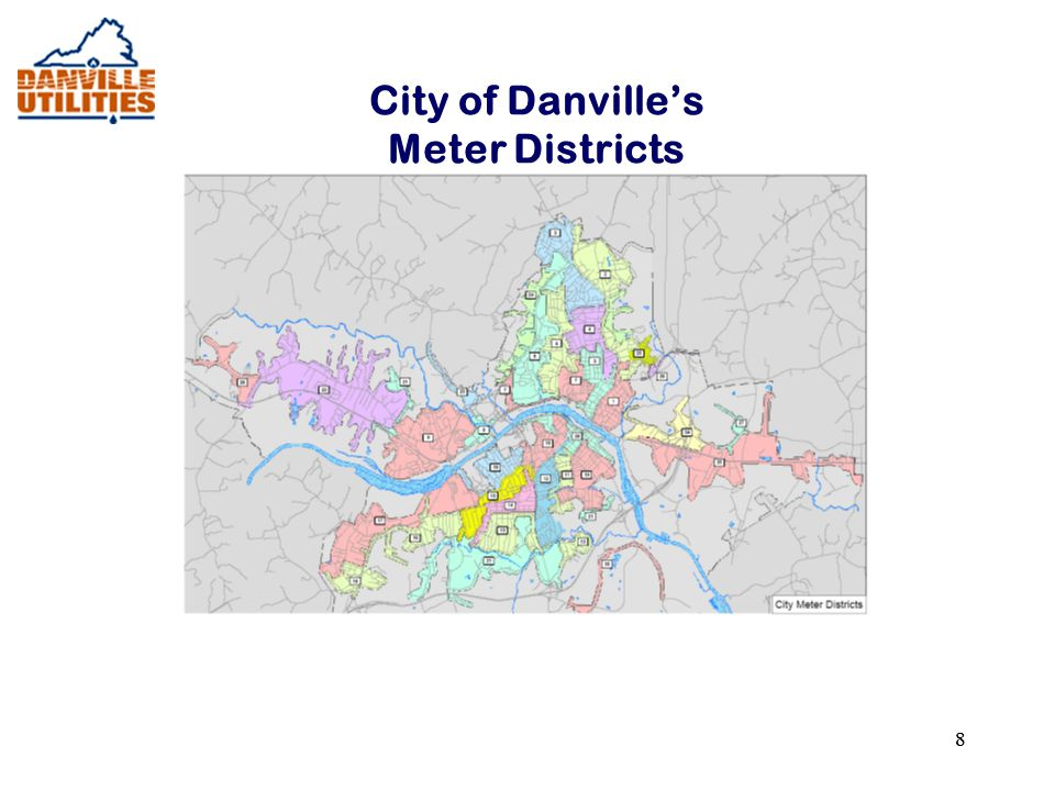 88 City of Danville's Meter Districts