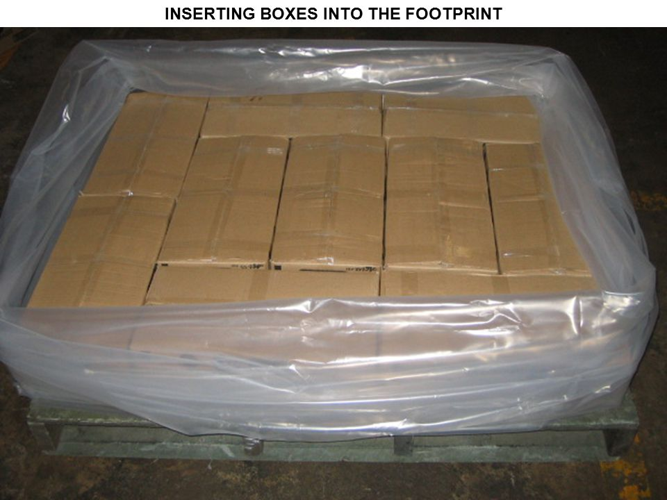 INSERTING BOXES INTO THE FOOTPRINT