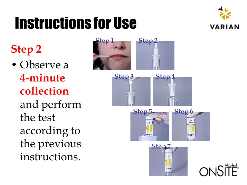 Instructions for Use Step 2 Observe a 4-minute collection and perform the test according to the previous instructions.