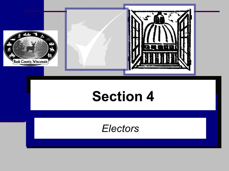 Section 1 Section 4 Electors