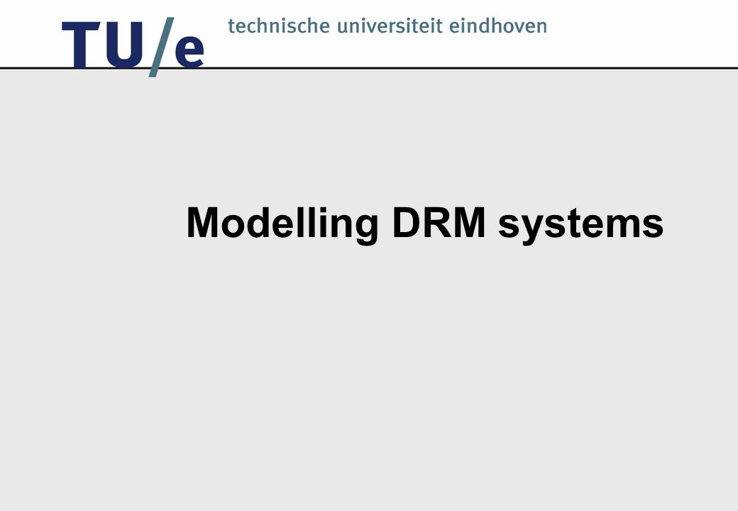 Modelling DRM systems