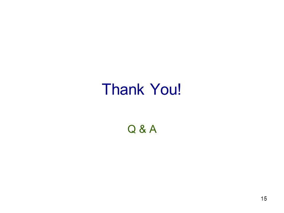 15 Thank You! Q & A