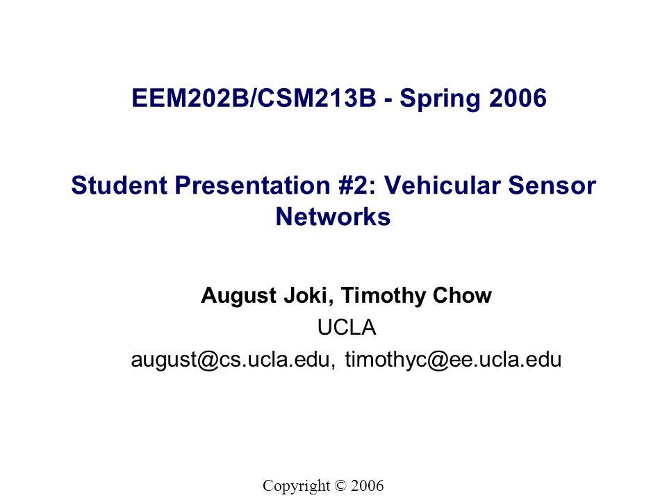32 Vehicle to Vehicle Communication 5.9 GHz for Dedicated Short-Range Communication –DSRC Car-to-Car Car-to-Roadside http://www.popsci.com/popsci/automotivetech/34e2d9d05716b010v gnvcm1000004eecbccdrcrd.htmlhttp://www.popsci.com/popsci/automotivetech/34e2d9d05716b010v gnvcm1000004eecbccdrcrd.html http://news.com.com/Wireless+The+new+backseat+driver/2100- 11389_3-5933641.htmlhttp://news.com.com/Wireless+The+new+backseat+driver/2100- 11389_3-5933641.html